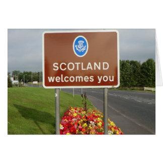 Recepción a Escocia - muestra de frontera Tarjeta