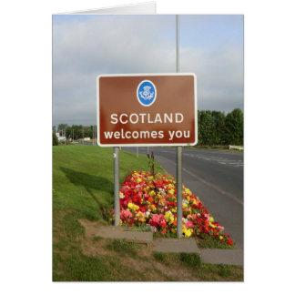 Recepción a Escocia - muestra de frontera Felicitaciones