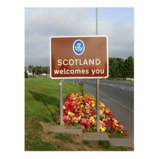 Recepción a Escocia - muestra de frontera Tarjeta Postal