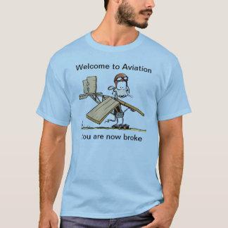 Recepción a la camiseta divertida de la aviación