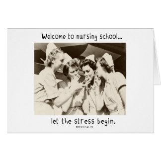 Recepción a la escuela de enfermería - deje la ten tarjetón