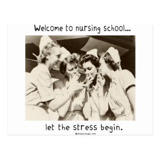 Recepción a la escuela de enfermería - deje la ten postal
