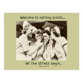 Recepción a la escuela de enfermería - deje la ten tarjeta postal