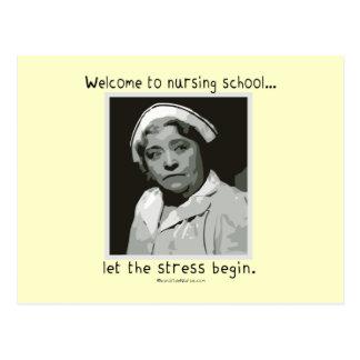 Recepción a la escuela de enfermería postal