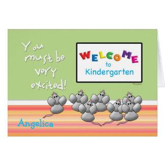Recepción a la guardería de ratones del profesor tarjeta de felicitación