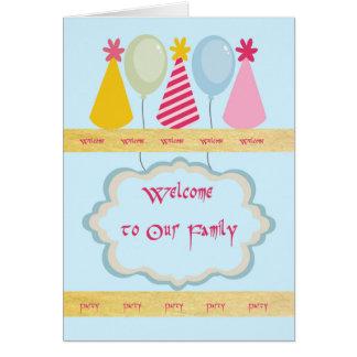 Recepción a la invitación del fiesta de la familia tarjeta de felicitación