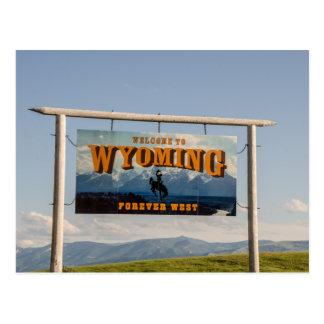 Recepción a la muestra de Wyoming - fronteras de Postal
