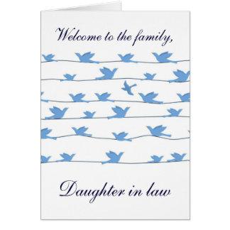 Recepción a la nuera de la familia tarjeta de felicitación