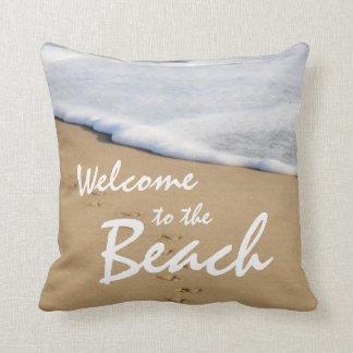 Recepción a la playa y a la almohada del océano
