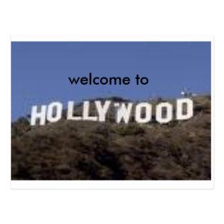 recepción a la postal de hollywood