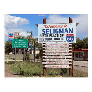 ¡Recepción a la postal de la ruta 66 de Seligman!
