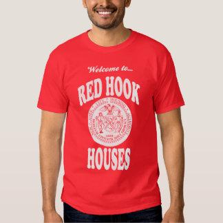 Recepción a las casas rojas del gancho - impresión camiseta
