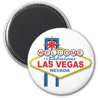 Recepción a Las Vegas fabuloso Imán Redondo 5 Cm