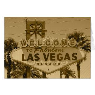Recepción a Las Vegas fabuloso Tarjetas