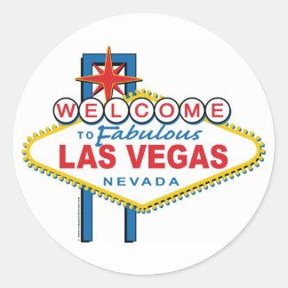 Recepción-a-Las-Vegas Pegatinas Redondas