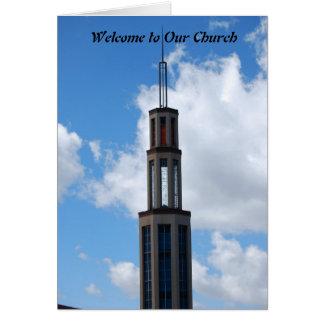 Recepción a nuestra iglesia tarjetón