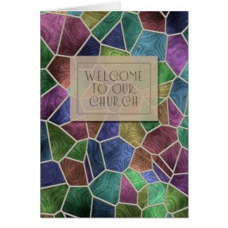 Recepción a nuestra tarjeta de la iglesia