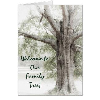 Recepción a nuestro árbol de familia Notecard Tarjeta