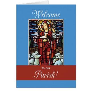 Recepción a nuestro buen pastor de la parroquia tarjeta