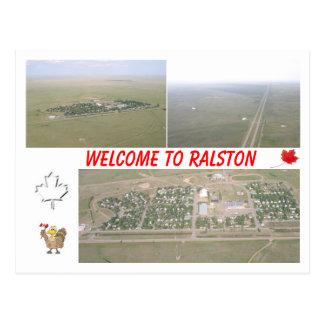Recepción a Ralston, Alberta [Canadá] Postal