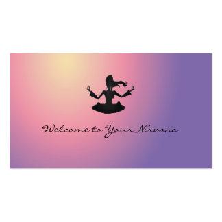 recepción a su nirvana tarjetas de visita