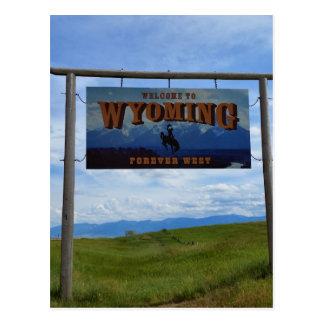 Recepción a Wyoming Tarjetas Postales