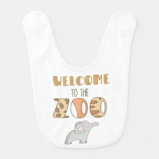 Recepción al babero del bebé del parque zoológico
