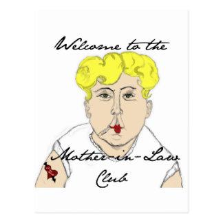 Recepción al club de la suegra tarjeta postal