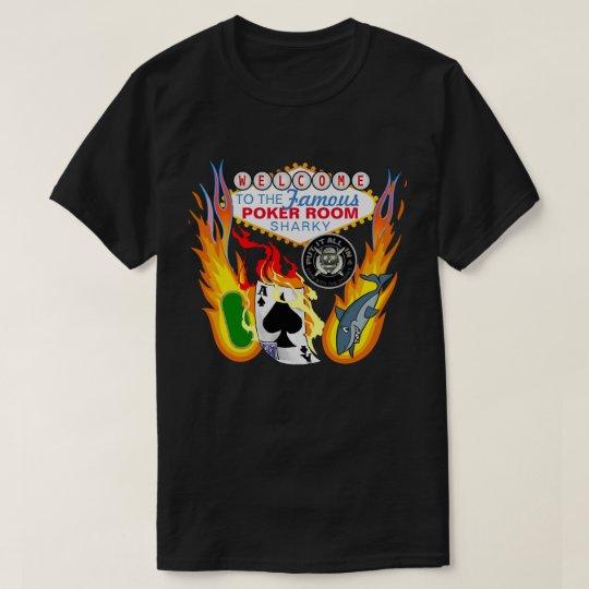 Recepción al cuarto del póker camiseta