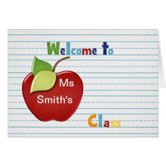 Recepción al estudiante de la tarjeta de profesor