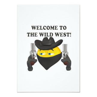 Recepción al oeste salvaje invitación 12,7 x 17,8 cm