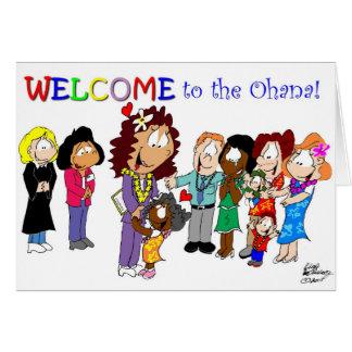 ¡Recepción al Ohana! Tarjeta De Felicitación