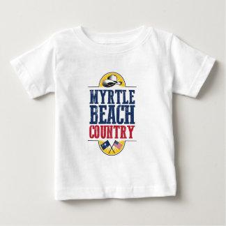 Recepción al país de Myrtle Beach Camiseta De Bebé