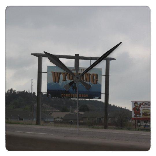 Recepción al reloj de Wyoming