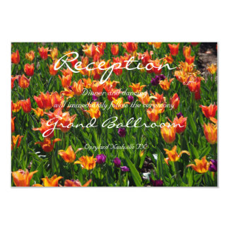Recepción anaranjada del jardín invitación 8,9 x 12,7 cm