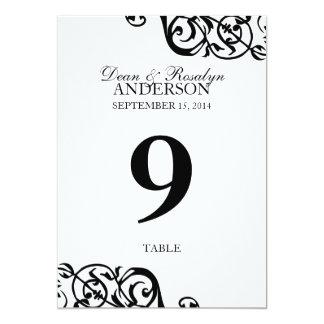 Recepción B&W del fiesta de la tarjeta del número Invitación 12,7 X 17,8 Cm