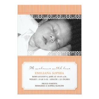 Recepción con la invitación moderna del nacimiento