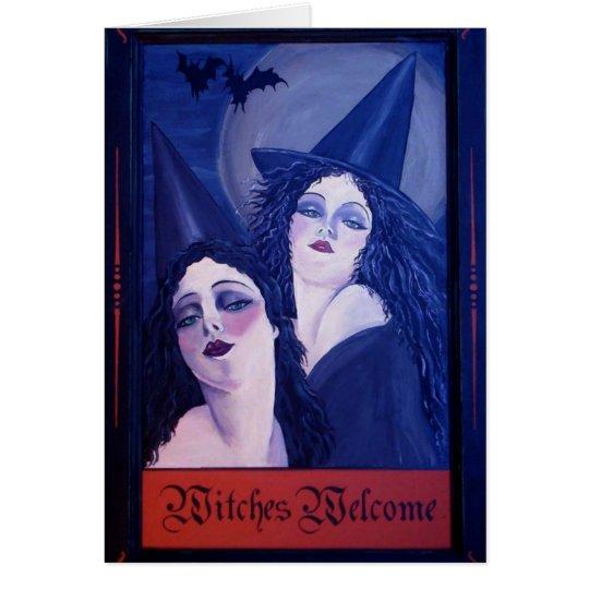 Recepción de las brujas tarjeta de felicitación