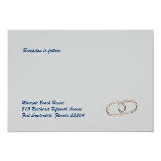 Recepción de los anillos de bodas invitación 8,9 x 12,7 cm