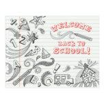 Recepción de los Doodles de la escuela de nuevo a  Tarjetas Postales