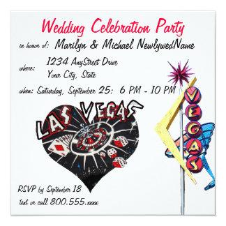 Recepción de los recienes casados de Las Vegas Invitaciones Personalizada