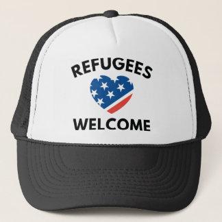 Recepción de los refugiados gorra de camionero