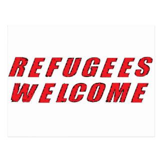 Recepción de los refugiados postal