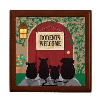 Recepción de los roedores caja de regalo