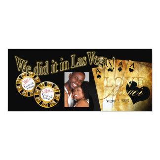Recepción de lujo de la foto de Las Vegas Invitación 10,1 X 23,5 Cm