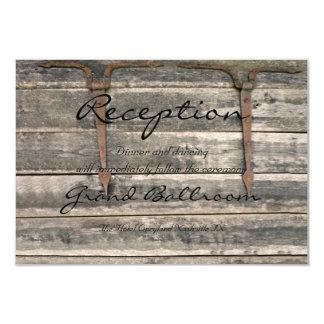 Recepción de madera resistida invitación 8,9 x 12,7 cm