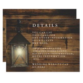 Recepción de madera rústica del país de la invitación 8,9 x 12,7 cm