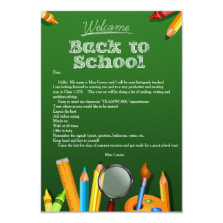 Recepción de nuevo a la escuela Notecard Invitación 8,9 X 12,7 Cm