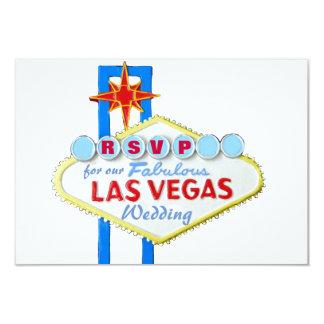 Recepción de RSVP Las Vegas Weedding Invitación 8,9 X 12,7 Cm