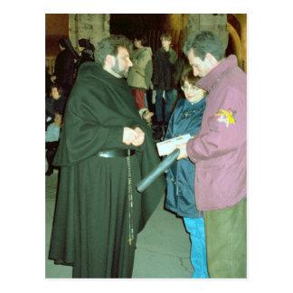 Recepción de una bendición tarjetas postales